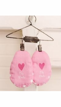 personalized baby girl booties - currently not available