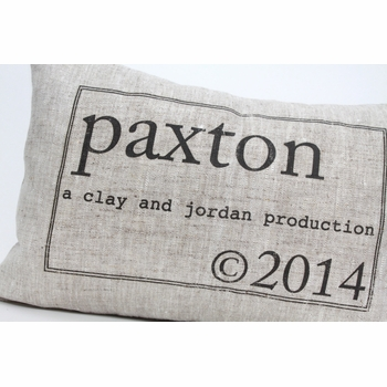personalized baby pillow - production of (the parker)