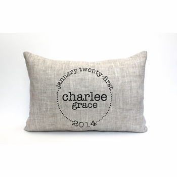 personalized baby pillow - the charlee