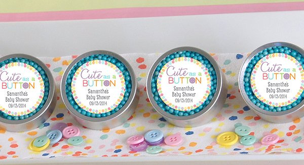 Cute As A Button Personalized Candy Tin