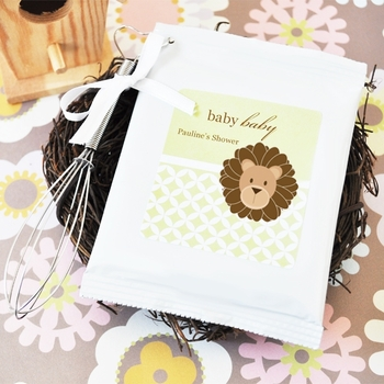 personalized baby shower favor-animal lemonade mix