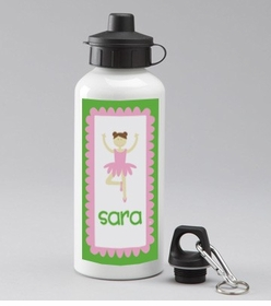 personalized ballerina water bottle