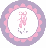 personalized ballet plate (style 1p)