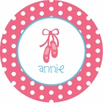 personalized ballet  plate (style 2p)