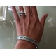 personalized bangle with roman numerals