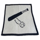 personalized baseball bat stroller blanket