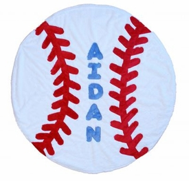 personalized baseball blanket