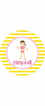 personalized beach bum plate (style 1p)