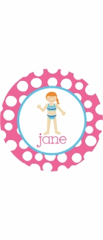 personalized beach bum plate (style 2p)