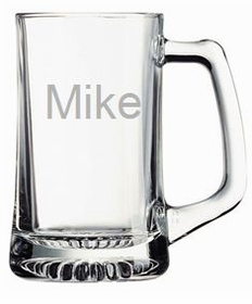 personalized beer mug (glass)