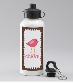 personalized birdie girl water bottle