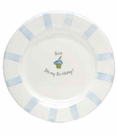 personalized birthday boy plate