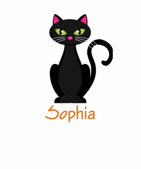 personalized black cat halloween tee shirt