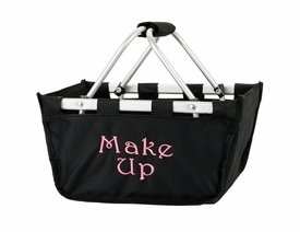 personalized black mini market carry all tote