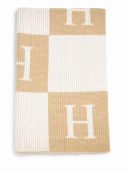 personalized block cashmere blanket
