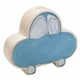 personalized blue car coin bank