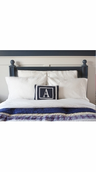 personalized boudoir initial pillow and double border