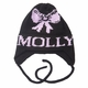 personalized bow hat with earflaps
