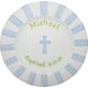 personalized boy baptism plate
