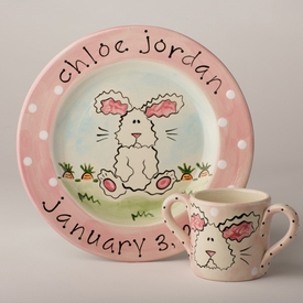 personalized bunny cup
