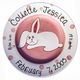 personalized bunny plate