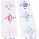 personalized burp cloths (set of three)