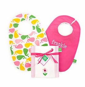 personalized burp cloths and bibs