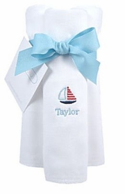 personalized burp cloths - little sailor