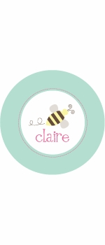 personalized busy bee plate (style 2p)