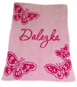 personalized butterfly blanket