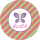 personalized butterfly plate (style 2p)