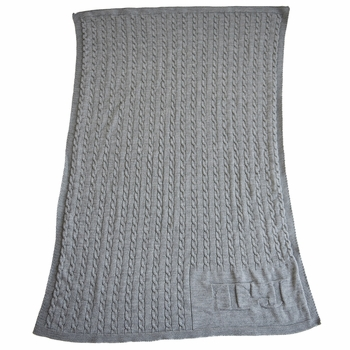 Personalized Cable Knit Baby Blanket