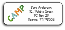 personalized camp notes address labels