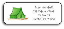 personalized camp stationery labels