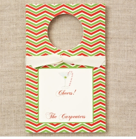 personalized candy cane martini wine tags