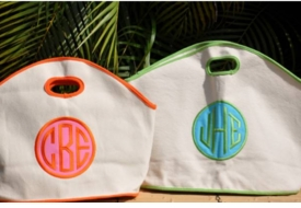personalized canvas gg bag with applique