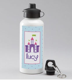 personalized castle water bottle