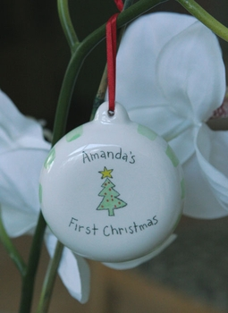 personalized ceramic babys first christmas ornament
