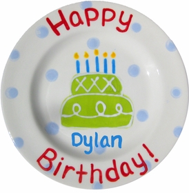 personalized ceramic birthday plate - 8 inch  sc 1 st  BabyBox.com : personalized ceramic birthday plates - pezcame.com