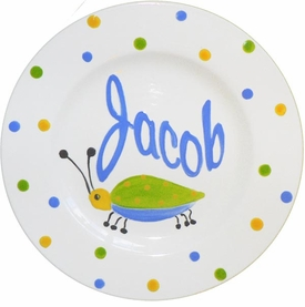 personalized ceramic keepsake plate - bug