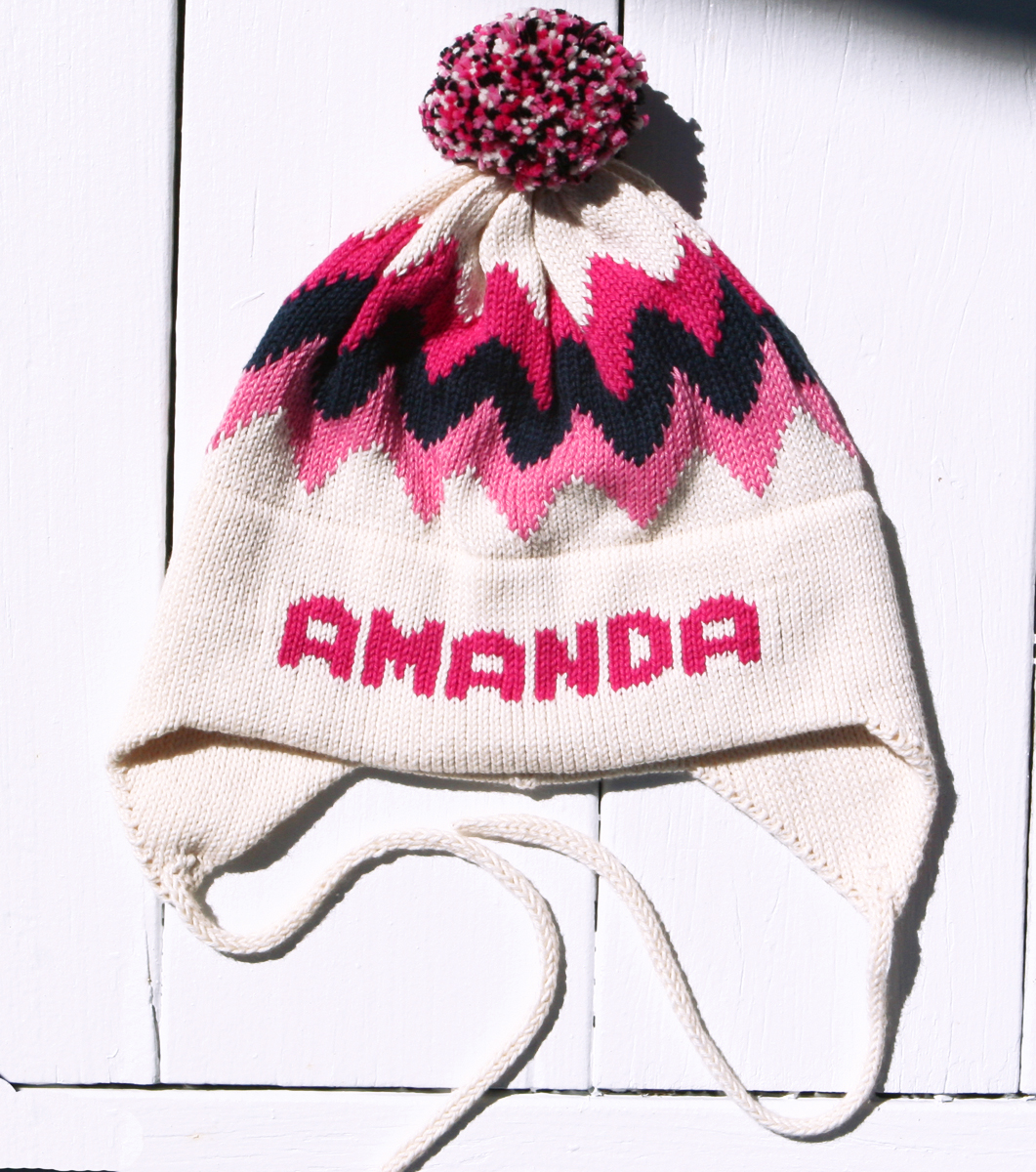 Personalized Beanie Retro Chevron Monogram Baby Hat