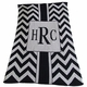 personalized chevron with box stroller blanket