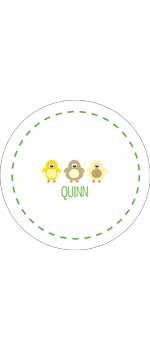 personalized chickadees holiday plate (style 2p)