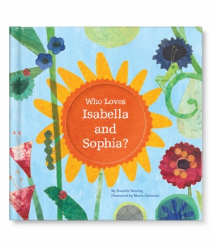 personalized child's book - who loves me (twins)