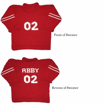 personalized childrens varsity sweater