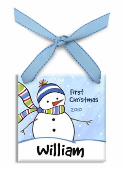 personalized chilly snowboy christmas ornament