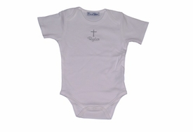 personalized christening onesie