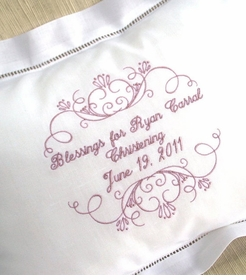 personalized christening pillow - unavailable