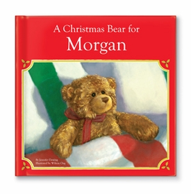 personalized christmas book plush bear gift set