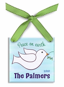 personalized christmas ornament - peace dove